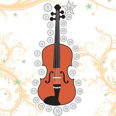 music practice chart violin / I love this chart. It is a great visual reminder to practice, and for a kid who is motivated by stickers it works great! - Stephanie