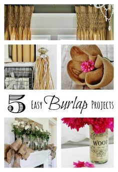 5 easy burlap projects you can finish in a day! thistlewoodfarms.com