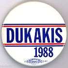 '88 * Early Primary. ~  DUKAKIS - - 1988  ~ Rare Campaign Button - quot, 1988, Button, Campaign, Dukakis, Early, PRIMARY, Rare