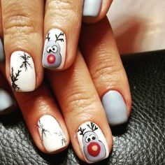 #Rudolph and his #reindeer #friends are resented and ready to #fly with #Santa! Are you and your #nails ready for the big day?! We this #festive #mani by @helen_turhina on #Nailstyle.com! #Upload your #pics to be featured.