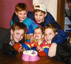 A young Rob Gronkowski and his brothers! #GRONK #Patriots