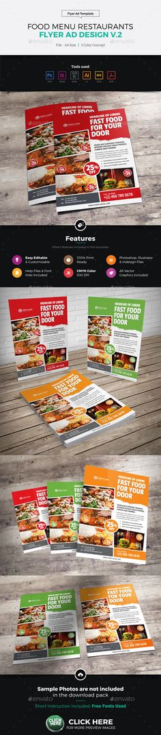 Sushi Flyer  Flyer Template Template And Food Menu Template
