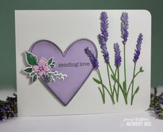 Memory box lavender bunch die