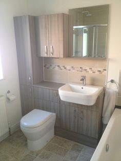 Bathroom Storage With Bathroom Installation In Leeds Small Bathroom Ideas Uk, Small Bathroom Inspiration, Bad Inspiration, Diy Bathroom Decor, Bathroom Layout, Bathroom Storage, Bathroom Interior, Modern Bathroom, Fitted Bathroom Furniture