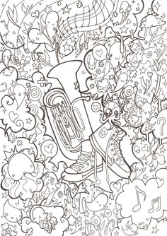 Tuba and Converse - Lines by 3lda