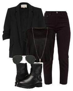 """""""Untitled #32"""" by trisha-donadio on Polyvore featuring River Island, Frye, Luv Aj and Ray-Ban"""