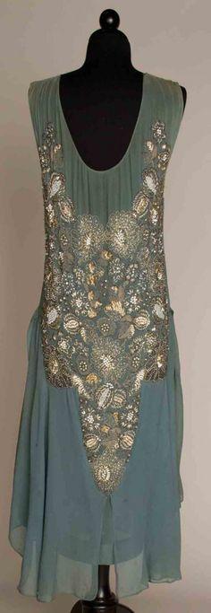 362: JEWELED CHIFFON DRESS, FRANCE, c. 1925 - 2