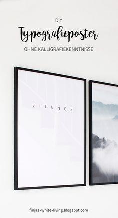 Anleitung für ein DIY Poster mit typografischem Schriftzug. Sieht super aus, auch ohne jegliche Handlettering Kenntnisse! :)