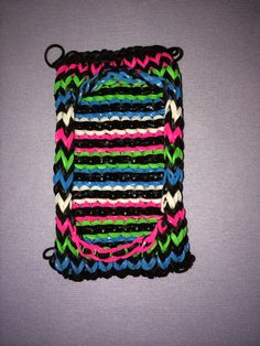 Rainbow loom cell phone case I made