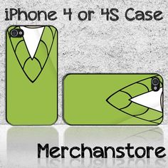 Funny Collar Shirt Custom iPhone 4 or 4S Case Cover