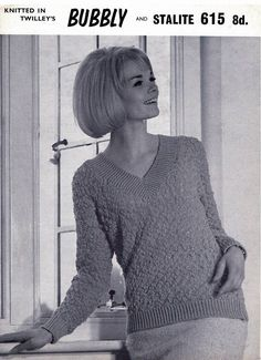 PDF Vintage Womens Ladies Knitting Pattern EASY 1960s Twilleys Easy Knitting, Knitting Patterns, Crochet Patterns, Vintage Knitting, Vintage Crochet, Secretary, Pin Up Girls, Knits, Preppy