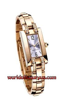 JAEGER-LECOULTRE - IDEALE CADRAN SERTI - Q4602182 (PINK GOLD / MOTHER OF PEARL DIAL / PINK GOLD BRACELET)