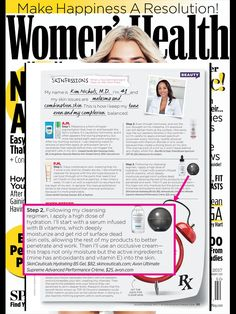 """Dr. Kim Nichols and ANEW Ultimate Supreme Advanced Performance Crème was featured in """"Skinfessions"""" in @womenshealthmag"""