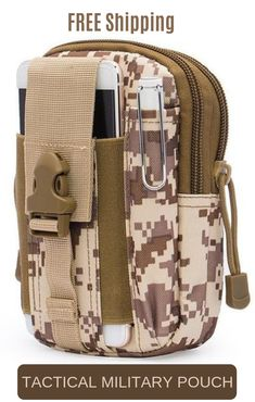 FREE Shipping!  Can be attached to a backpack or a belt and therefore fits snugly to your trouser's waist. Multi pockets inside with a large capacity and many things can be put in. TACTICAL MILITARY HOLSTER EDC POUCH Great for outdoors, fishing, tactical sports, hiking, climbing, hunting, camping, survival etc. #edc #pouch #military #bag #fishing #hiking #climbing Outdoor Survival Gear, Camping Survival, Emergency Preparedness, Survival Kit, Outdoor Gear, Tactical Equipment, Tactical Gear, Bug Out Bag, Outdoor Stuff
