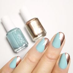 Make your nail art pop with a hint of the statement-making metallic 'penny talk'.