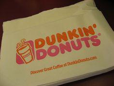 Dunkin' Donuts napkins