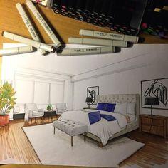 Interior Architecture Drawing, Interior Design Renderings, Architecture Concept Drawings, Drawing Interior, Interior Rendering, Interior Sketch, Interior And Exterior, Architecture Design, Home And Deco