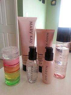 Mary Kay travel.. If you forgot to purchase your Trial Miracle Set for travel..  Pill holder from the $1 store