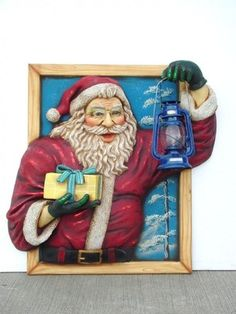 Santa in window with Oil Latern (JR - The Jolly Roger - Life Size Models - Resin Figures Model Supplies, Modern Toilet, Jolly Roger, Shop Window Displays, Centre Pieces, Toy Soldiers, Christmas Balls, Christmas Shopping, Lanterns