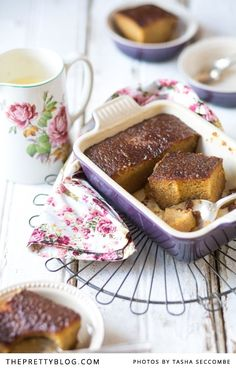 This is my third post about malva pudding in the past 3 years - just shows how much I love this classic South African dessert! I first posted about it in August then again in March 2012 - the second one a malva pudding with a twist. Sweets Recipes, Wine Recipes, Baking Recipes, South African Desserts, Malva Pudding, I Want Food, Pudding Recipes, How Sweet Eats, The Best