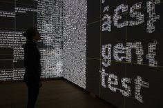 Type/Dynamics, #interactive real-time installation by Jurriaan Schrofer