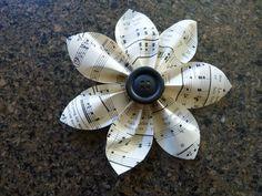 sheet music flower