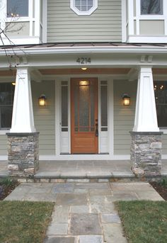 1000 images about house exterior on pinterest stone for Tapered craftsman columns