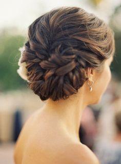 Wedding hair bun - Click image to find more Weddings Pinterest pins