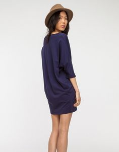 Wide Dress in Navy