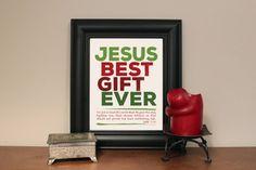 Jesus. Best Gift Ever. Instant download print. Pdf by PrintsofLife