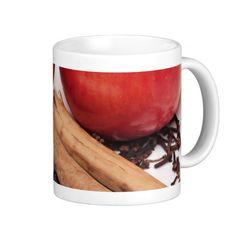 Apples & Cinnamon Mugs - $15.95 - Apples & Cinnamon Mugs - by #RGebbiePhoto @ zazzle - #apple #cinnamon #memories - Apples Cinnamon sticks and cloves set the theme for this photo. A good winter combination, good times happy warm memories.