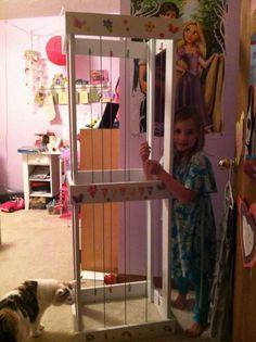 Olivia stuffed animal zoo keeper made by her grandpa Jim!