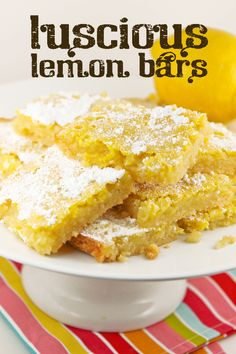 Luscious Lemon Bars | pipandebby.com