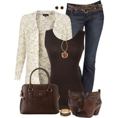 Open Front Cardigan by daiscat on Polyvore featuring polyvore, fashion, style, PacificPlex, Express, Lucky Brand, Relic, Michael Kors, Goldmajor and Roxy