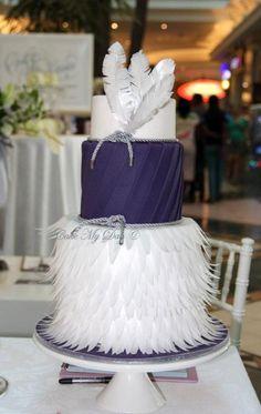 Purple wafer paper design