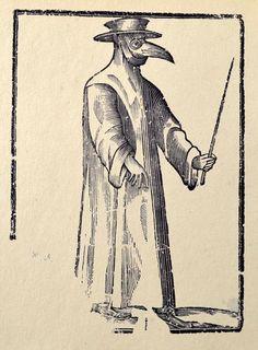 Plague Doctor woodcut