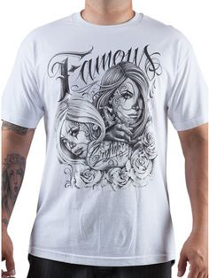 "Men's ""Masked Faces"" Tee by Famous Stars & Straps (White)"