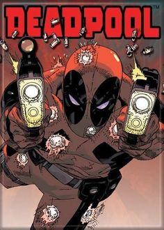 Marvel Comics Deadpool Guns Magnet 20178MV @ niftywarehouse.com