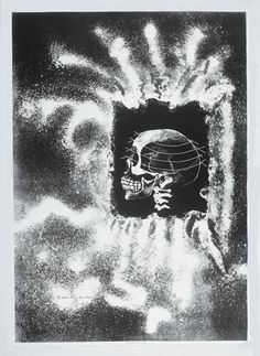 Inside Out, April 1992. Lithograph by June Wayne. If interested in exhibiting or purchasing, please contact the June Wayne Collection to check for availability.