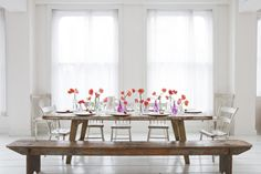 From a wedding photo shoot, but wouldn't it be great in a dining room? Photography by clycreation.com, Floral Design by occasion9.com