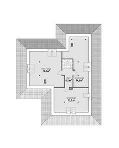 DOM.PL™ - Projekt domu FA Nela VI CE - DOM GC7-26 - gotowy koszt budowy House Blueprints, House Plans, Villa, Floor Plans, Construction, How To Plan, House Styles, Modern, Houses