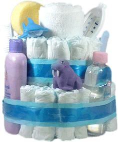 Tarta de pañales baño perfecto