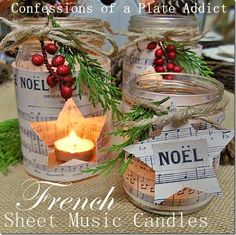 Ten Easy Ideas for Christmas Candles