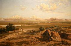 Hacienda de Chimalpa,1893 pintura que se exhibe en Museo Nacional de Arte MUNAL