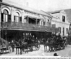 Cape Town Municipal Fire Department in 1901 Old Photos, Vintage Photos, Cities In Africa, Beach Tops, Most Beautiful Cities, My Land, African History, Fire Department, Cape Town