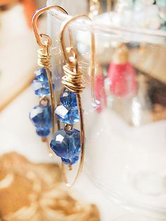 Blue Marquise earrings Deep blue crystal earrings by MADAMBLUEONE, $20.00