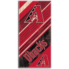 MLB Beach Towel Diagonal Series, Arizona Diamondbacks, Multicolor