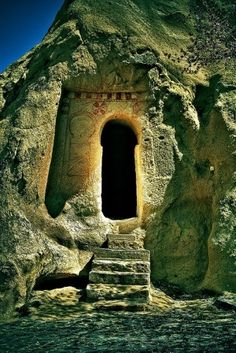 Ancient keyhole door, Turkey by ida