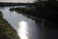 The Vistula river in Warsaw. Poland.