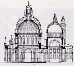 Interior Elevation of the Basilica di Santa Maria della Salute
